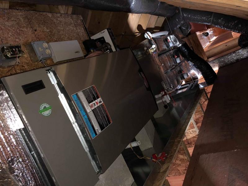 Ryan-Horizontally installed Lennox furnace in an attic